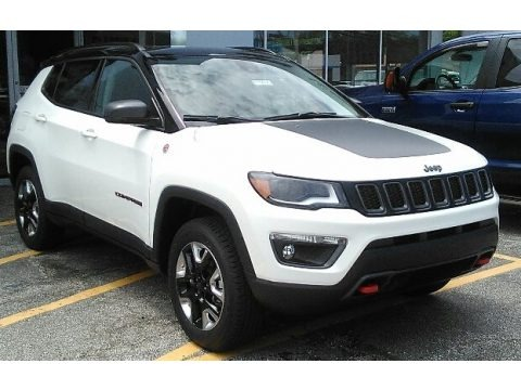 Bright White 2017 Jeep Compass Trailhawk 4x4