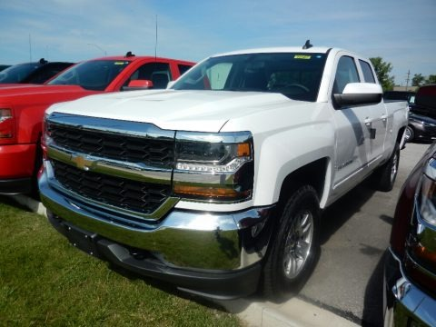 Summit White 2017 Chevrolet Silverado 1500 LT Double Cab 4x4