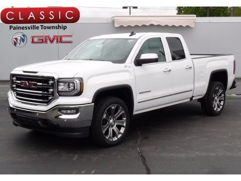 Summit White 2017 GMC Sierra 1500 SLT Double Cab 4WD