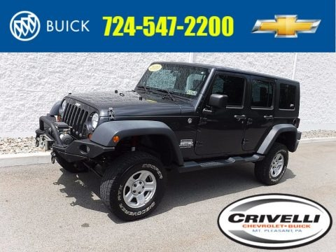 Dark Charcoal Pearl 2010 Jeep Wrangler Unlimited Sport 4x4