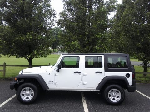 Bright White 2017 Jeep Wrangler Unlimited Sport 4x4