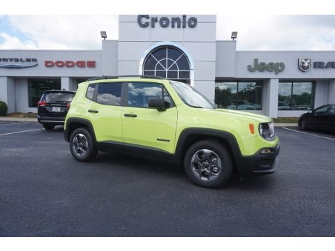 Hypergreen 2017 Jeep Renegade Sport