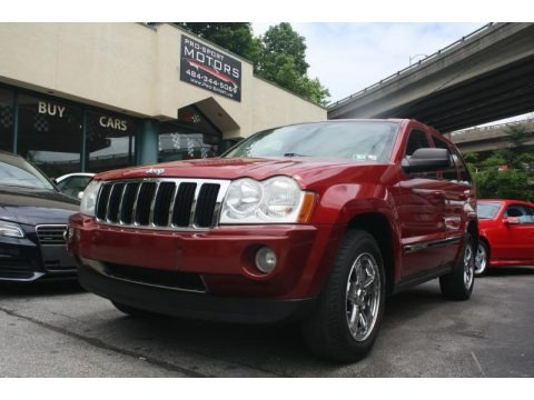 Inferno Red Crystal Pearl 2005 Jeep Grand Cherokee Limited