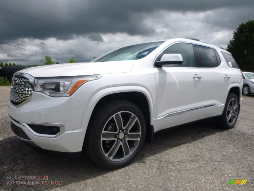 2017 gmc acadia denali awd in white frost tricoat 301841. Black Bedroom Furniture Sets. Home Design Ideas