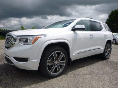 White Frost Tricoat 2017 GMC Acadia Denali AWD