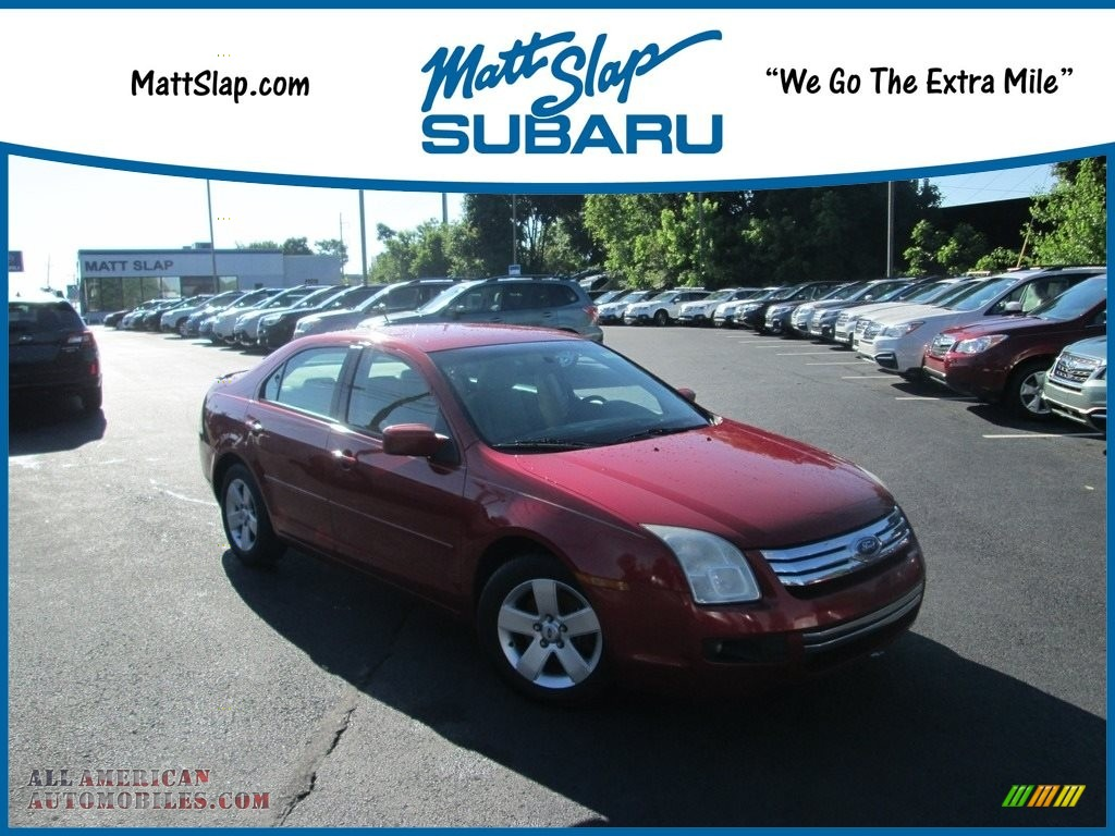 2008 Ford Fusion Se In Redfire Metallic 101459 All