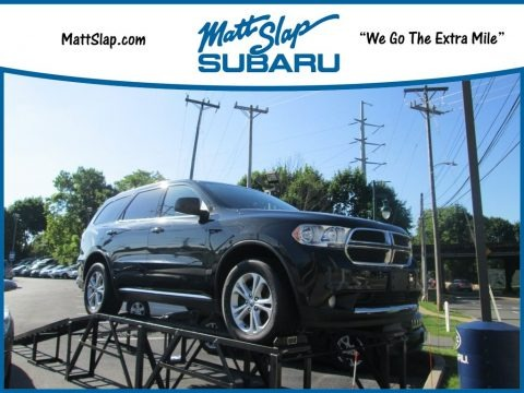 Brilliant Black Crystal Pearl 2012 Dodge Durango SXT AWD
