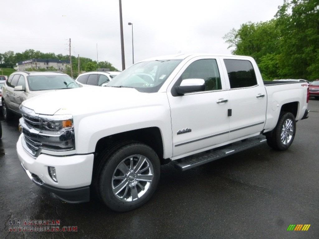 2017 chevrolet silverado 1500 high country crew cab 4x4 in iridescent pearl tricoat 435557. Black Bedroom Furniture Sets. Home Design Ideas
