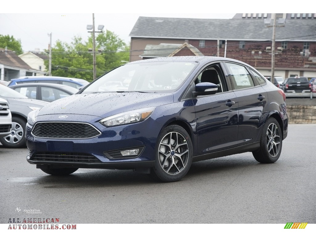 2017 ford focus sel sedan in kona blue 275933 all american automobiles buy american cars. Black Bedroom Furniture Sets. Home Design Ideas