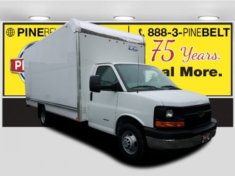 Summit White 2017 Chevrolet Express Cutaway 4500 Moving Van