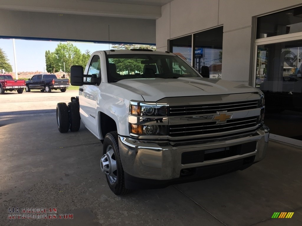 2017 chevrolet silverado 3500hd work truck regular cab in summit white 205702 all american. Black Bedroom Furniture Sets. Home Design Ideas