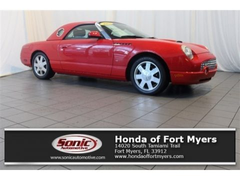 Torch Red 2002 Ford Thunderbird Deluxe Roadster