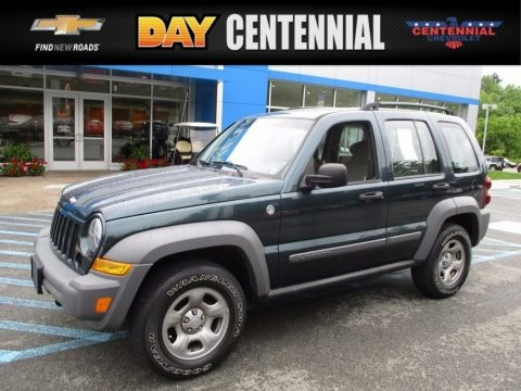 Deep Beryl Green Pearl 2005 Jeep Liberty Sport 4x4