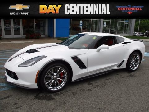 Arctic White 2017 Chevrolet Corvette Z06 Coupe