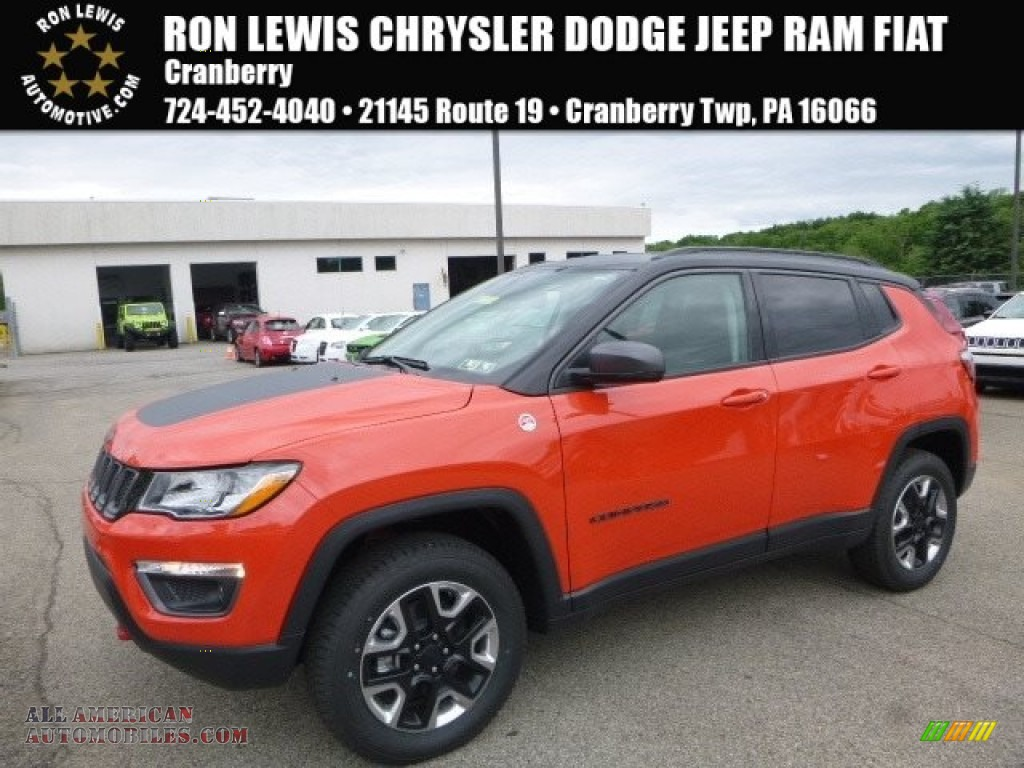 2017 jeep compass trailhawk 4x4 in spitfire orange 624054 all american automobiles buy. Black Bedroom Furniture Sets. Home Design Ideas