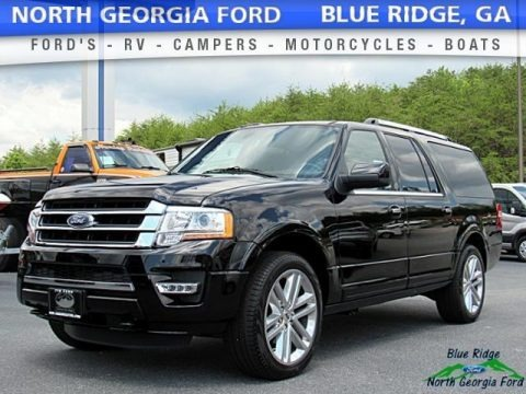 Shadow Black 2017 Ford Expedition EL Limited 4x4