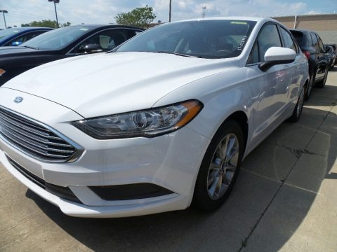 Oxford White 2017 Ford Fusion SE