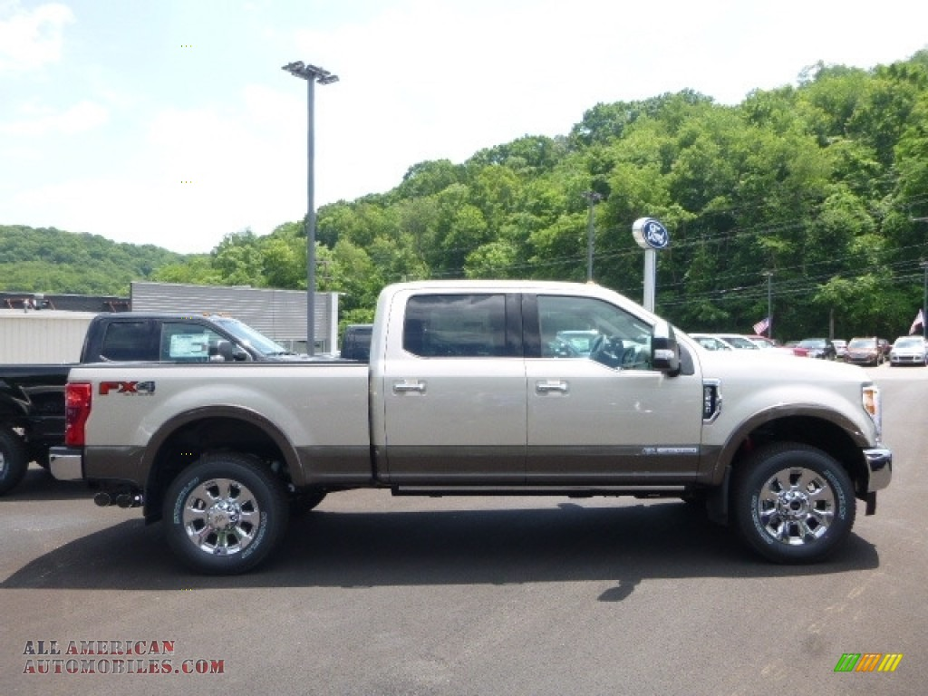 2017 ford f250 super duty king ranch crew cab 4x4 in white gold d65306 all american. Black Bedroom Furniture Sets. Home Design Ideas