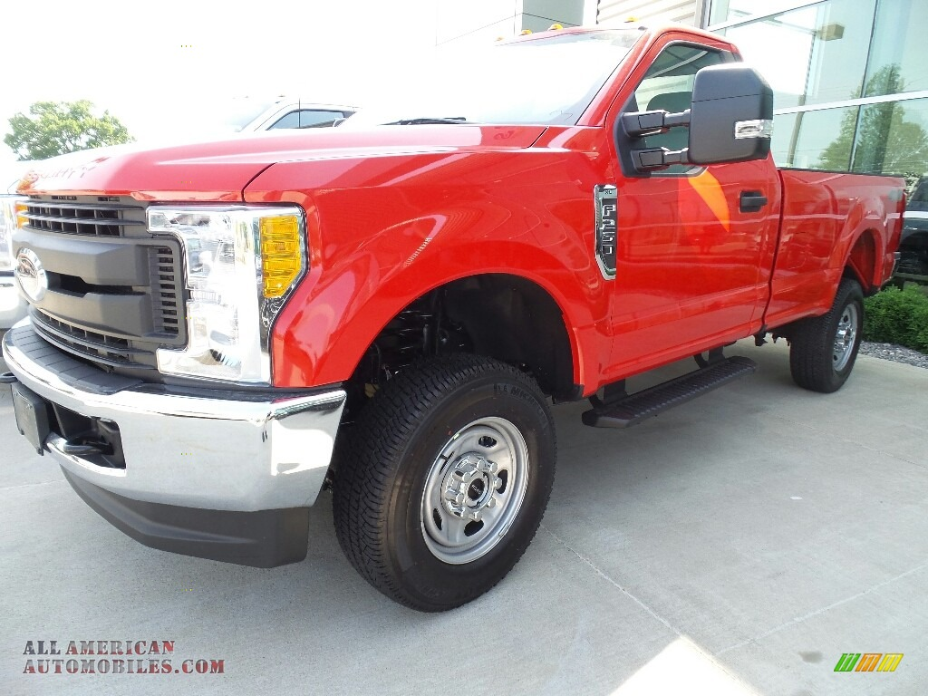 2017 ford f250 super duty xl regular cab 4x4 in race red d56563 all american automobiles. Black Bedroom Furniture Sets. Home Design Ideas