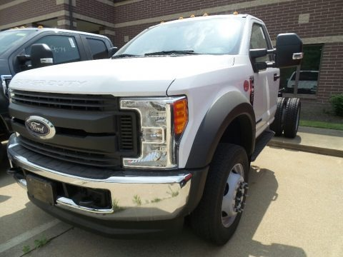 Oxford White 2017 Ford F550 Super Duty XL Regular Cab 4x4 Chassis
