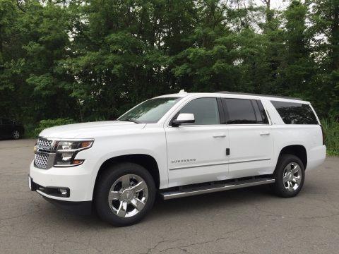 Summit White 2017 Chevrolet Suburban LT 4WD