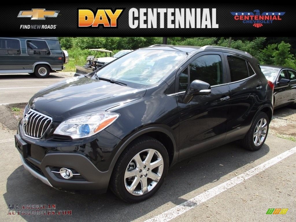 2014 buick encore leather awd in carbon black metallic 652156 all american automobiles buy. Black Bedroom Furniture Sets. Home Design Ideas