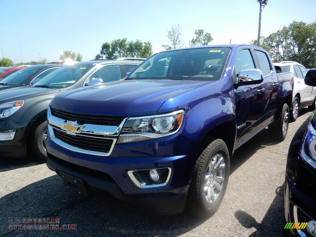 2017 chevrolet colorado lt crew cab 4x4 in laser blue metallic 285879 all american. Black Bedroom Furniture Sets. Home Design Ideas