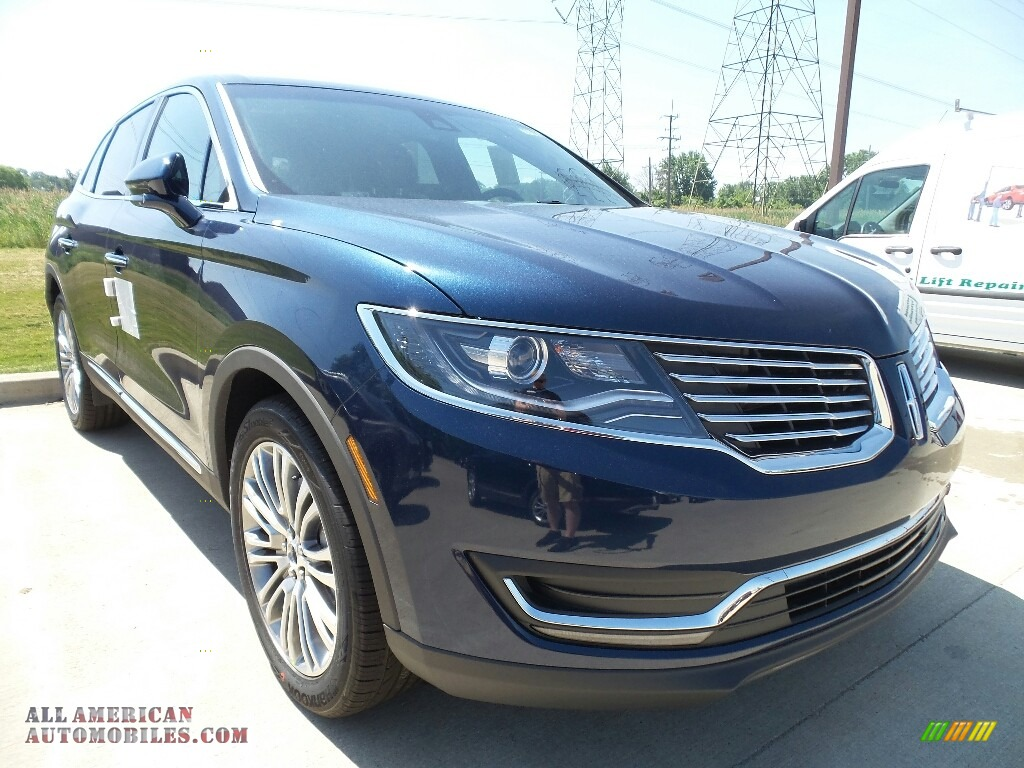 2017 MKX Reserve AWD - Midnight Sapphire Blue / Ebony photo #1