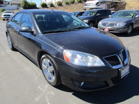 Carbon Black Metallic 2010 Pontiac G6 GT Sedan