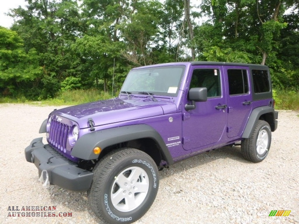 2017 Jeep Wrangler Unlimited Sport 4x4 In Extreme Purple