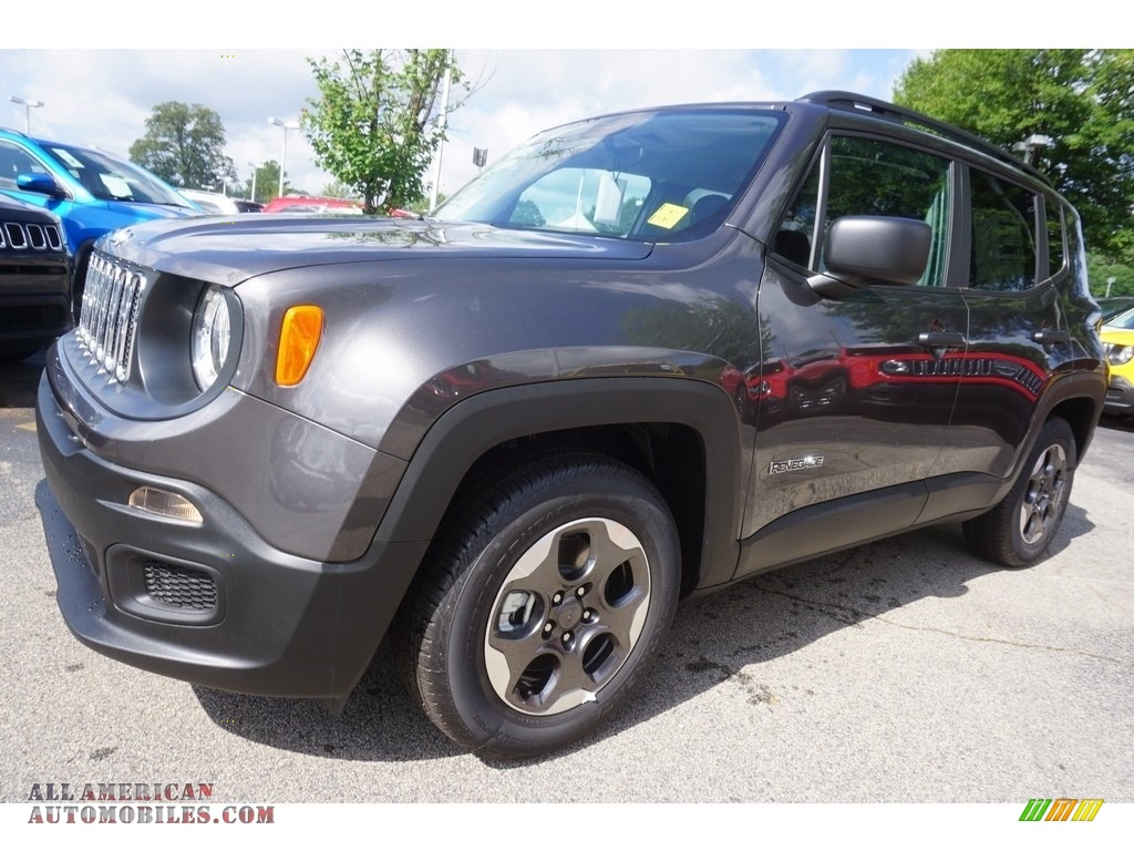 2017 jeep renegade sport in granite crystal metallic f57814 all american automobiles buy. Black Bedroom Furniture Sets. Home Design Ideas