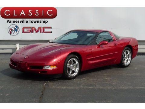 Magnetic Red II Metallic 2002 Chevrolet Corvette Coupe