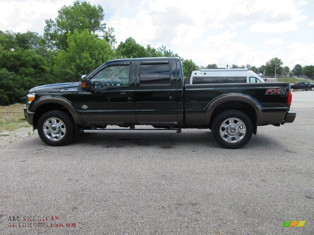 2016 ford f250 super duty king ranch crew cab 4x4 in green gem metallic a79960 all american. Black Bedroom Furniture Sets. Home Design Ideas