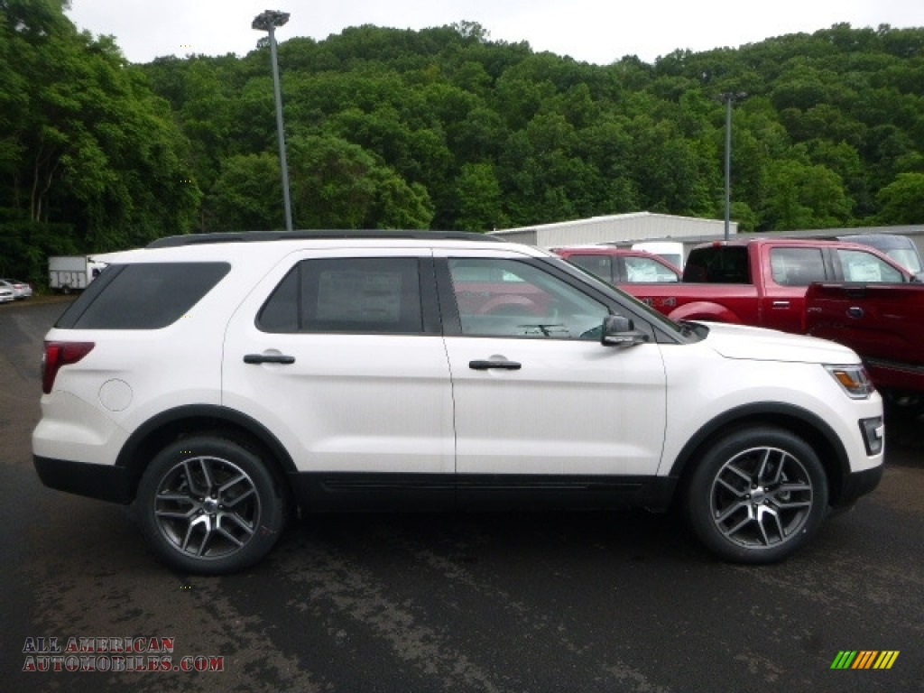 2017 ford explorer sport 4wd in white platinum b29216 all american automobiles buy. Black Bedroom Furniture Sets. Home Design Ideas