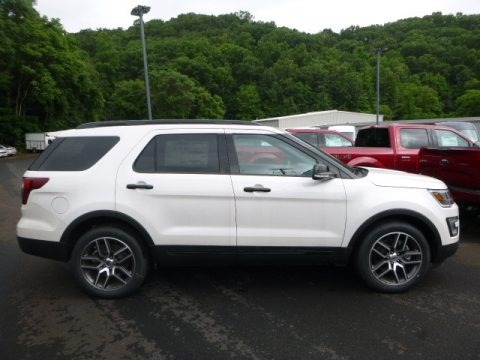 White Platinum 2017 Ford Explorer Sport 4WD