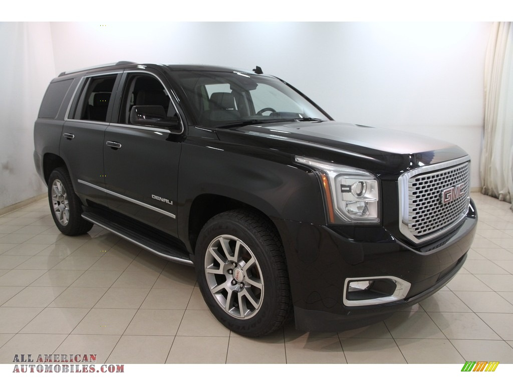 2015 gmc yukon denali 4wd in onyx black 168388 all american automobiles buy american cars. Black Bedroom Furniture Sets. Home Design Ideas