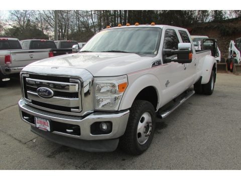 Oxford White 2011 Ford F350 Super Duty Lariat Crew Cab 4x4 Dually