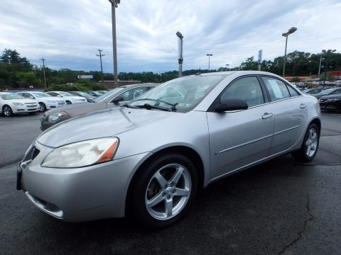 Liquid Silver Metallic 2008 Pontiac G6 V6 Sedan