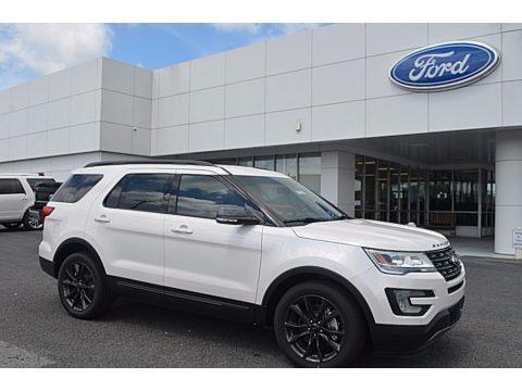 White Platinum 2017 Ford Explorer XLT