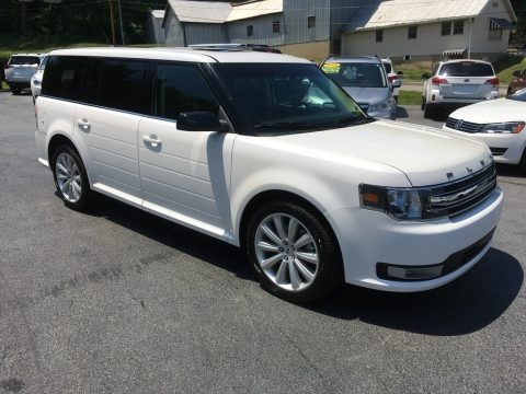 White Platinum 2014 Ford Flex SEL AWD