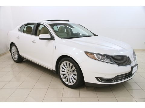 White Platinum Metallic Tri-coat 2014 Lincoln MKS FWD