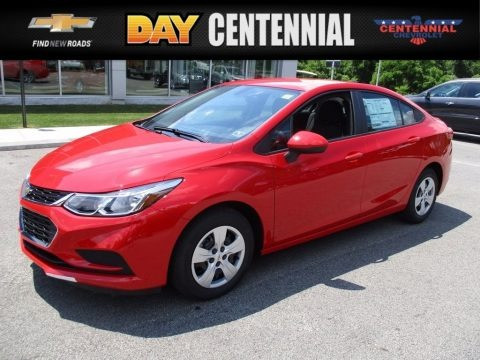 Red Hot 2017 Chevrolet Cruze LS