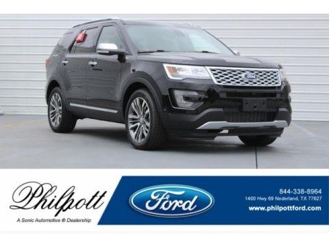 Shadow Black 2017 Ford Explorer Platinum 4WD