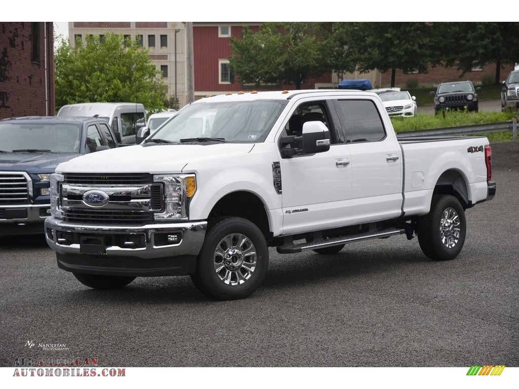 2017 ford f250 super duty xlt crew cab 4x4 in oxford white d90890 all american automobiles. Black Bedroom Furniture Sets. Home Design Ideas