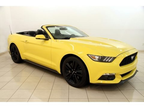 Triple Yellow Tricoat 2016 Ford Mustang EcoBoost Premium Convertible