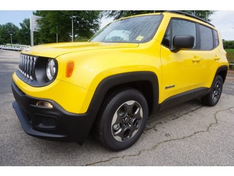 Solar Yellow 2017 Jeep Renegade Sport