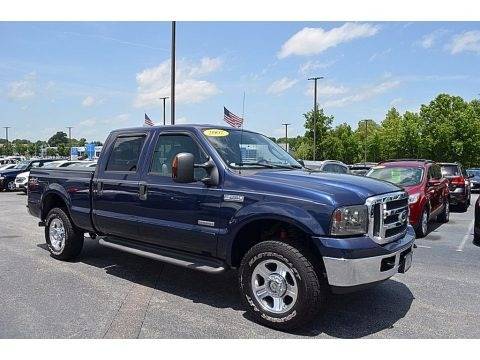 Medium Wedgewood Blue Metallic 2007 Ford F250 Super Duty XLT Crew Cab 4x4