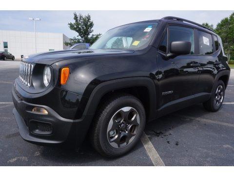 Black 2017 Jeep Renegade Sport