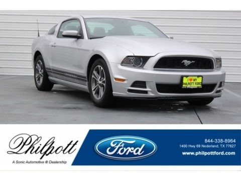 Ingot Silver 2014 Ford Mustang V6 Premium Coupe