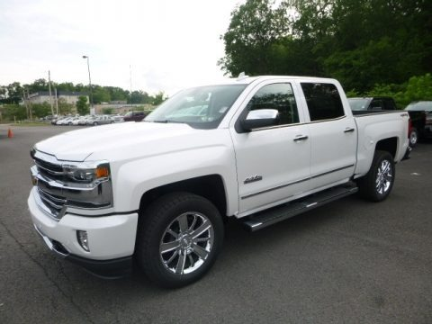Iridescent Pearl Tricoat 2017 Chevrolet Silverado 1500 High Country Crew Cab 4x4